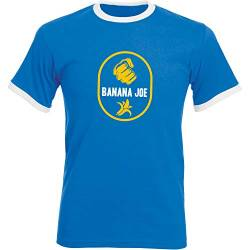 Banana Joe Original Premium Soccer Kontrast T-Shirt #2 Royalblau/Weiss 3XL von Banana Joe