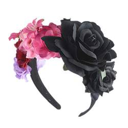 Weihnachten Party Stirnband Brautferien Haarschmuck Rose Flower Head Buckle,A von BandeHuan