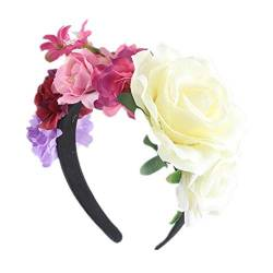 Weihnachten Party Stirnband Brautferien Haarschmuck Rose Flower Head Buckle,B von BandeHuan