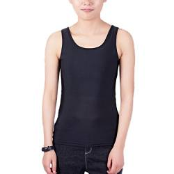 BaronHong Tomboy Chest Binder Solid Color Weste Sommer Cool Tank Top (schwarz, S) von BaronHong