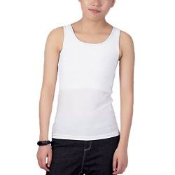 BaronHong Tomboy Chest Binder Solid Color Weste Sommer Cool Tank Top (weiß, M) von BaronHong