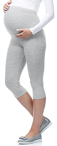 Be Mammy 3/4 Umstandsleggings aus Viskose BE-03 (Melange, M) von Be Mammy