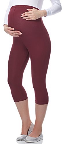 Be Mammy 3/4 Umstandsleggings aus Viskose BE-03 (Winerot, XL) von Be Mammy
