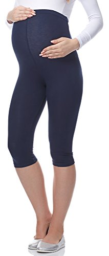 Be Mammy 3/4 Umstandsleggings aus Viskose BE-03 (Marine, XL) von Be Mammy