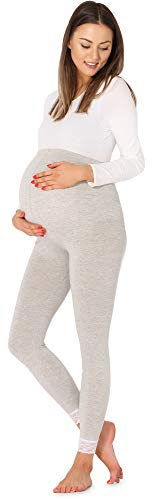 Be Mammy Damen 7/8 Umstandsleggings BE20-262(Melange,3XL) von Be Mammy
