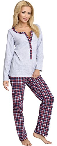 Be Mammy Damen Schlafanzug Stillpyjama 1L3C2 (Melange, S) von Be Mammy