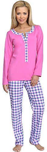 Be Mammy Damen Schlafanzug Stillpyjama 1L3C2 (Rosa-1, L) von Be Mammy