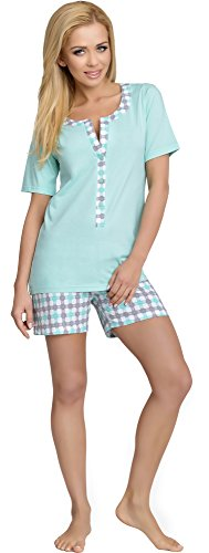 Be Mammy Damen Schlafanzug Stillpyjama J5ST3N2 (Minze, M) von Be Mammy