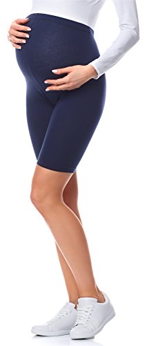 Be Mammy Kurze Umstandsleggings aus Baumwolle BE20-228 (Marine, 4XL) von Be Mammy