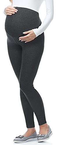 Be Mammy Lange Umstandsleggings aus Viskose BE-02 (Dunkelmelange, XL) von Be Mammy