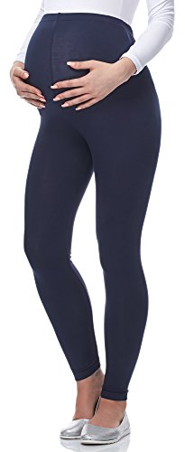 Be Mammy Lange Umstandsleggings aus Viskose BE-02 (Marineblau, XXL) von Be Mammy
