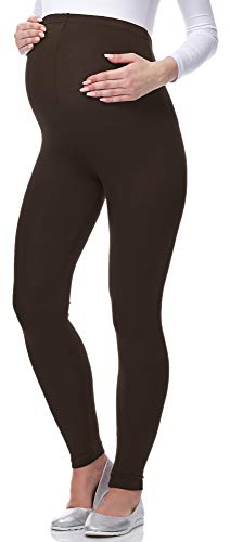 Be Mammy Lange Umstandsleggings aus Viskose BE-02 (Braun, 4XL) von Be Mammy
