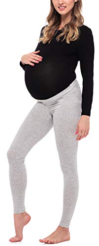Be Mammy Lange Umstandsleggings aus Viskose BE20-253 (Melange, XXL) von Be Mammy