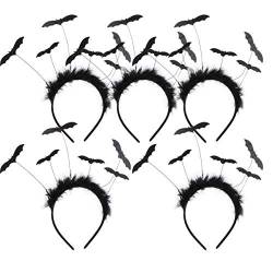 Beaupretty 5Pcs Halloween Fledermaus Stirnband Plüsch Teufel Haarband Horror Haar Reifen Halloween Cosplay Kopfschmuck Halloween Party Kopfbedeckung für Erwachsene Kinder von Beaupretty