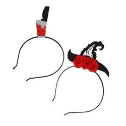 Beaupretty Blutiges Stirnband Halloween Stirnband Hairhoop Horror Kopfbedeckung für Cosplay Party 2St von Beaupretty