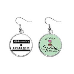 Shakespeare World Is A Stage Decoration Dangle Season Spring Ohrring Schmuck von Beauty Gift