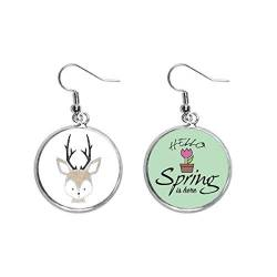 Simplicity Style Little Deer Animal Decoration Dangle Season Spring Ohrring Schmuck von Beauty Gift