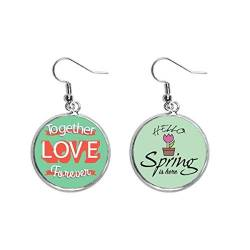 Together Love Forever Valentinstag Dekoration Baumeln Saison Frühling Ohrring Schmuck von Beauty Gift