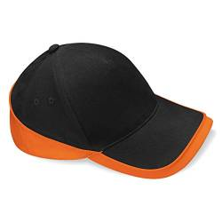 Beechfield Teamwear Cap in black / orange von Beechfield