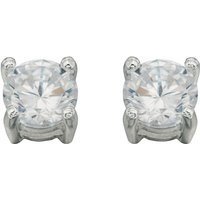 Damen Beginnings Cubic Zirconia Round Stud Ohrringe Sterling-Silber E457C von Beginnings