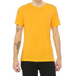 Canvas Triblend Herren T-Shirt mit Rundhalsausschnitt (Large) (Goldgelb Triblend) von Bella+Canvas