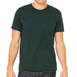 Canvas Triblend Herren T-Shirt mit Rundhalsausschnitt (Medium) (Smaragd Triblend) von Bella+Canvas