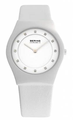 Bering Time Damen-Armbanduhr Slim Ceramic Analog Quarz 32035-659 von BERING