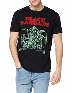 Black Sabbath Herren T-Shirt Bloody Sabbath Cutout, Schwarz, Small von Black Sabbath
