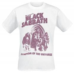 Black Sabbath Symptom of The Universe T-Shirt weiß L von Black Sabbath