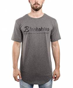 Blackskies Clouds T-Shirt Grau Herren Longshirt Print BS - X-Large XL von Blackskies