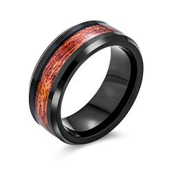 Bling Jewelry Schwarz Wolfram Holz Inlay Mens Ring von Bling Jewelry