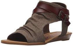 Blowfish Women's Balla Wedge Sandal, Brown Rancher Canvas/Whiskey Dyecut, 6 Medium US von Blowfish