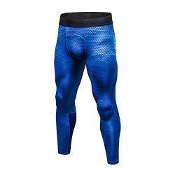 Bmeigo Herren Workout Leggings 3D Running Exercise Tight Bodybuilding Sport Hose von Bmeigo