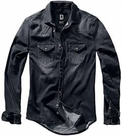 Brandit Denimshirt Riley - Black - 4XL von Brandit