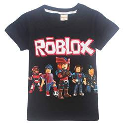Roblox Hooded Sweater für Jungen, Teens Langarm-T-Shirt, Baumwolle, Girls Game Design (black3, 160(11-12Jahre)) von Brandless