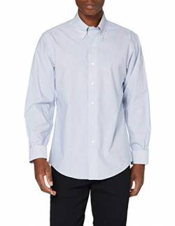 Brooks Brothers Herren Camicia Formale Hemd mit Button-Down-Kragen, Marine, 17H 35 von Brooks Brothers