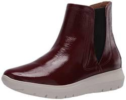 Brothers United Damen Leather Made in Brazil Luxury Boot with Sneaker Sole Chelsea, Stiefel, Rouge Trommelpatent, 42 EU von Brothers United