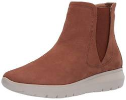 Brothers United Damen Leather Made in Brazil Luxury Boot with Sneaker Sole Chelsea-Stiefel, Cognac Wildleder, 43.5 EU von Brothers United