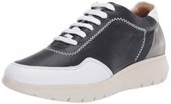 Brothers United Damen Made in Brazil Luxury Leather Fashion Sneaker Turnschuh, Nappa Soft Navy, 39 EU von Brothers United
