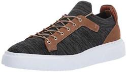 Brothers United Herren Leather Knit Lightweight Technology Fashion Sneaker Turnschuh, Black Lux Strick/Stone Nubuck, 46 EU von Brothers United