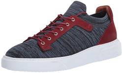 Brothers United Herren Leather Knit Lightweight Technology Fashion Sneaker Turnschuh, Navy Lux Strick/Bordo Nubuk, 43 EU von Brothers United