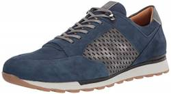 Brothers United Herren Leather Made in Brazil Fashion Trainer Sneaker Turnschuh, Royal Nubuck/Graphit Vintage, 43 EU von Brothers United