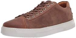 Brothers United Herren Leather Made in Brazil Luxury Laceup Fashion Sneaker Turnschuh, Hellbraunes Leder, 45 EU von Brothers United