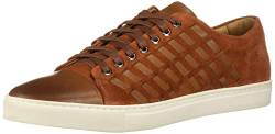 Brothers United Herren Mens Leather Luxury Fashion Sneaker with Woven Detail Turnschuh, Cognac Nappa/Burnt Orange Wildleder, 39.5 EU von Brothers United