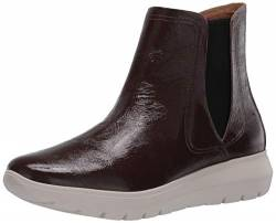 Brothers United Women's Leather Made in Brazil Luxury Chelsea Boot with Sneaker Sole, Brown tumbled patent, 6 M US von Brothers United