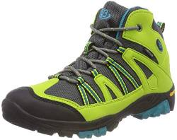 Brütting OHIO HIGH Unisex Kinder Trekking- & Wanderstiefel, Lemon/ Grau/ Blau, 31 EU von Brütting