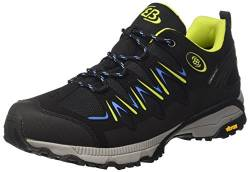 Brütting Expedition Unisex Walkingschuhe, Schwarz/ Lemon/ Blau, 42 EU von Brütting