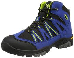 EB kids OHIO HIGH, Jungen Trekking- & Wanderstiefel, Blau (Blau/schwarz/lemon), 37 EU (3.5 Kinder UK) von Bruetting