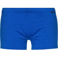 bruno banani Herren Badehose - Short Key Words, Limited Edition Badehosen blau Herren Gr. 46 von Bruno Banani