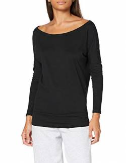 Build Your Brand Damen Batwing Longsleeve T-Shirt, Black, XL von Build Your Brand
